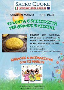 Cena con polenta sabato 9 marzo