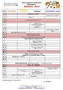 Calendario Mese Di Maggio 2020.Pro Memoria Voucher 2019 2020 Sacro Cuore Casale Monferrato