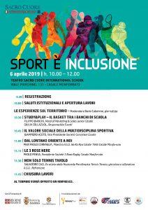 """""""Sport è Inclusione"""" – Convegno sabato 6 aprile 2019"""