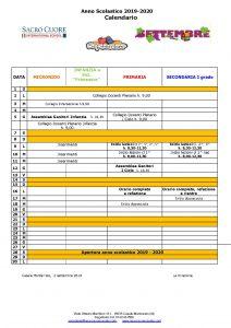 calendario mese di Settembre